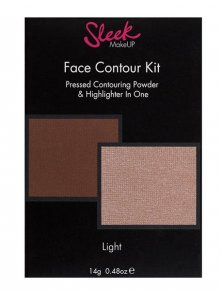 Sleek face contour kit in light poeder en highlighter palette shaped zijde zachte poeder