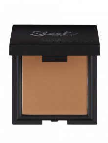 sleek suede effect pressed powder foundation bruin tinten compact doosje met spiegel